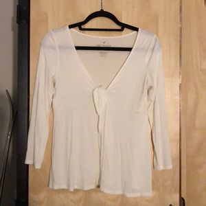 Dainty tie up blouse